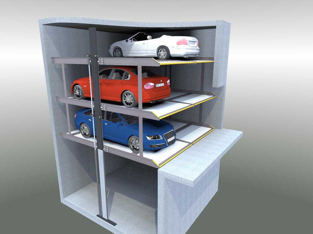 Mbm box ascensori per auto montauto sistemi di for Tre piani di garage per auto con soppalco
