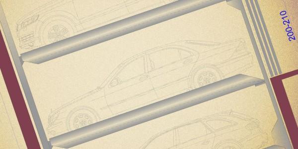 Mod PARK 03 Elevatore per auto e sistema di parcheggio semiautomatico per il parcheggio indipendente di autoveicoli costituito da moduli affiancati formati da 3 piattaforme ciascuno.