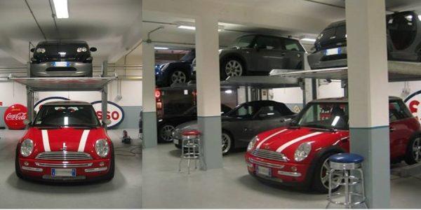 elevatore auto sistema di parcheggio